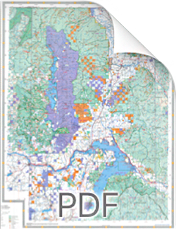 North Idaho Maps with National Forest and Public Land Maps